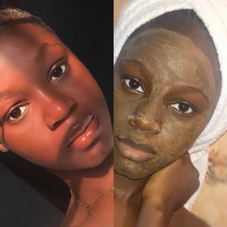 client on clay mask